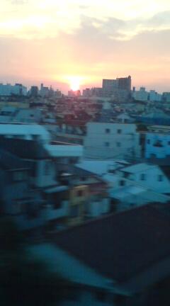 品川の夕陽